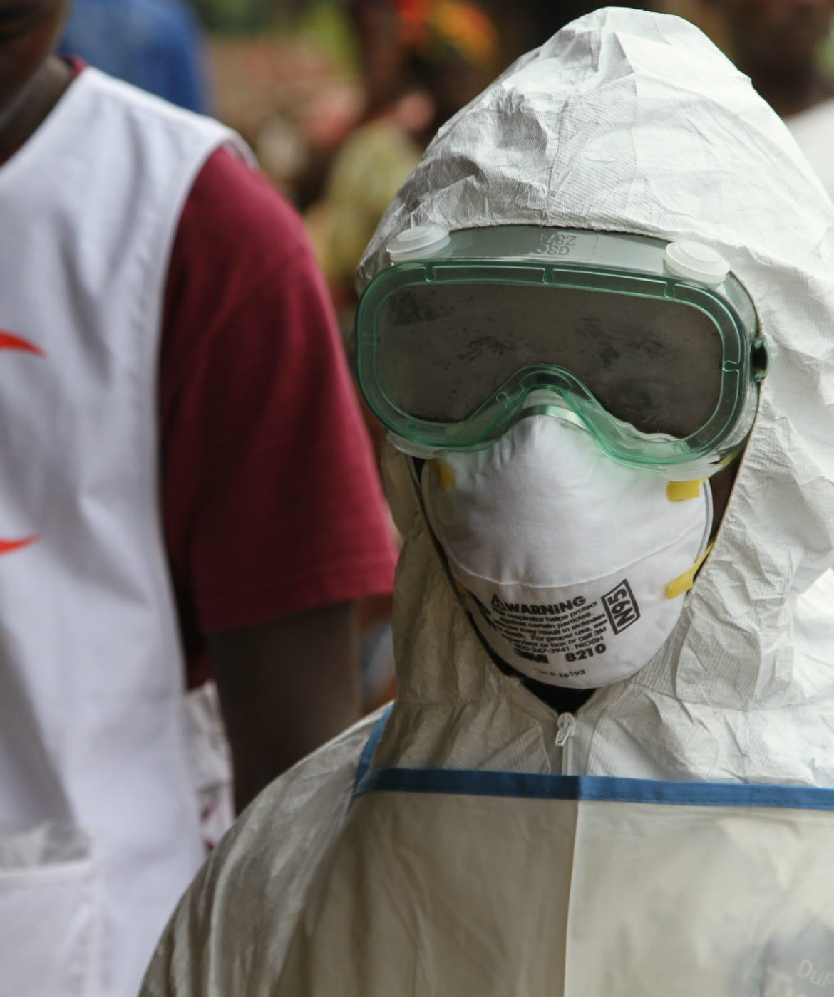 The Red Cross on the ground during an Ebola virus outbreak.