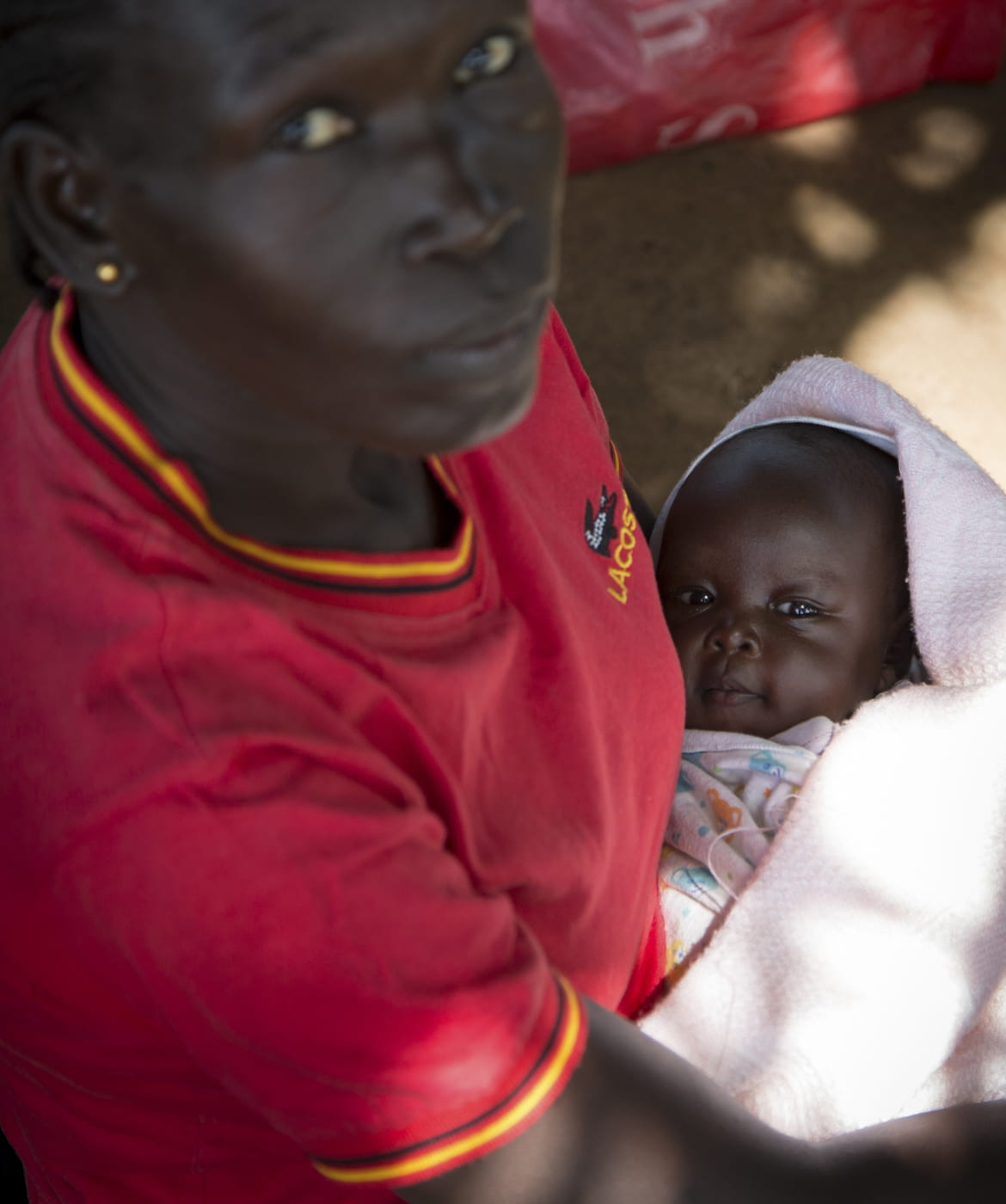 South Sudanese woman with baby